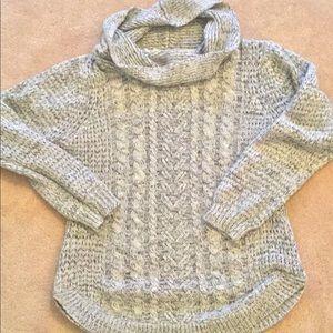 Soft grey cowl neck sweater